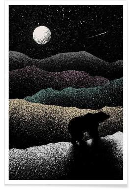 Wandering bear Poster