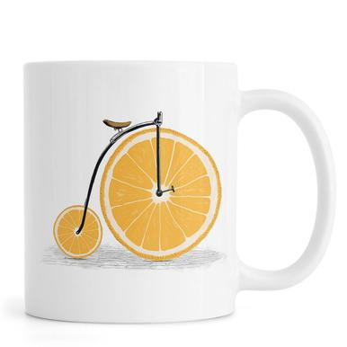 Orange Wheels -Tasse
