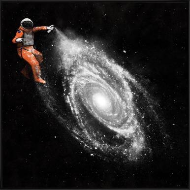 Space Art ingelijste poster