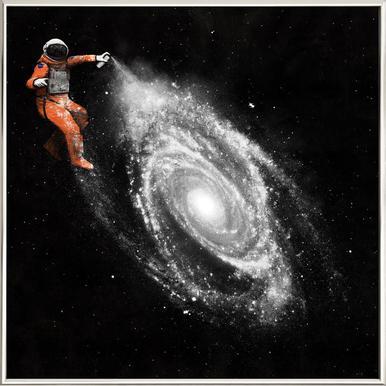 Space Art poster in aluminium lijst