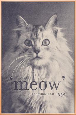 Famous Quote - Cat Poster in Aluminium Frame