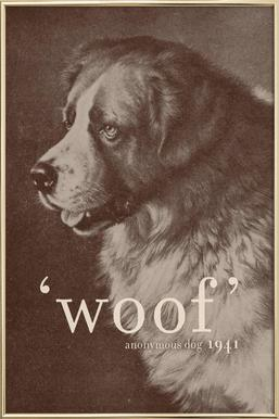 Famous Quote - Dog Poster in Aluminium Frame