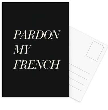 Pardon My French Postcard Set