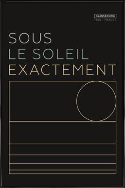 Sous Le Soleil Framed Poster