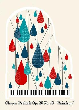 Chopin - Raindrop Prelude by Prelude Posters