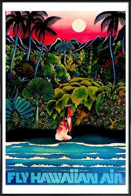 hawaii2 affiche encadrée