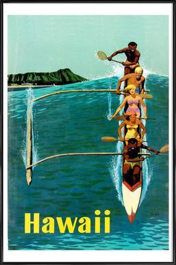 hawaii3 ingelijste poster