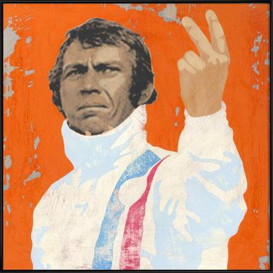 Steve McQueen - Poster in Standard Frame