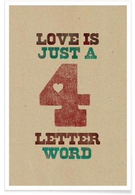 four letter word -Poster
