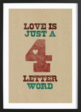 four letter word Framed Print