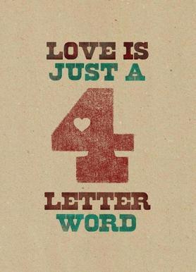 four letter word -Leinwandbild