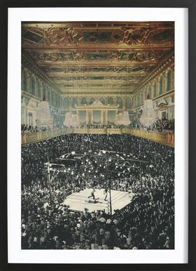 boxing in vienna -Bild mit Holzrahmen