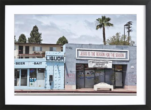 Liquor Store San Pedro Framed Print