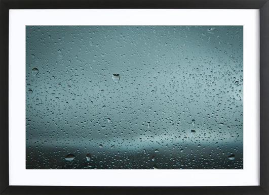 Love Drop Window Framed Print