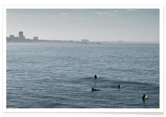 Early Morning Surfer's Bliss - Premium poster
