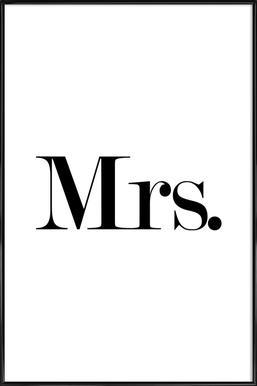Mrs. affiche encadrée