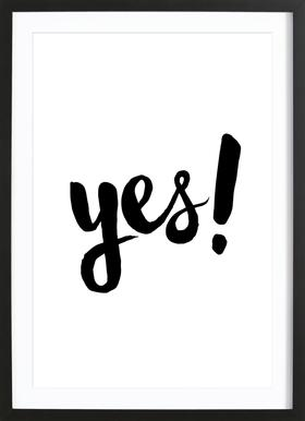Yes Framed Print