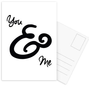 You & Me Postcard Set