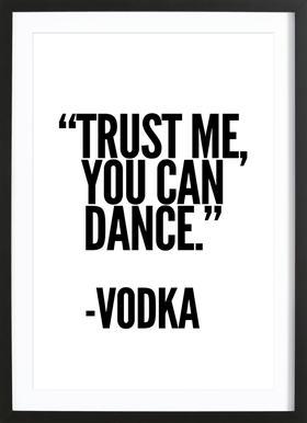 Vodka affiche sous cadre en bois