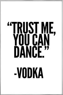 Vodka -Poster im Alurahmen