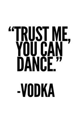 Vodka -Acrylglasbild