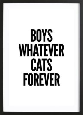 Boys -Bild mit Holzrahmen