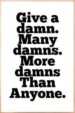 Damns -Poster im Alurahmen