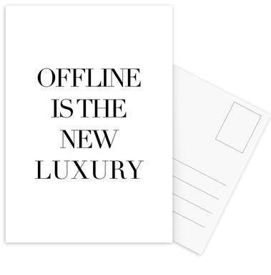 Luxury -Postkartenset