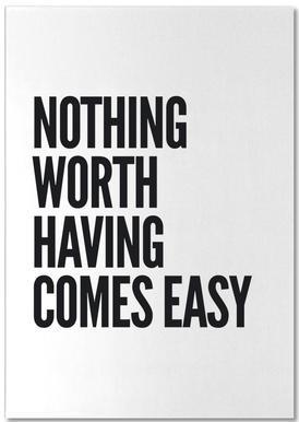 Nothing Worth -Notizblock