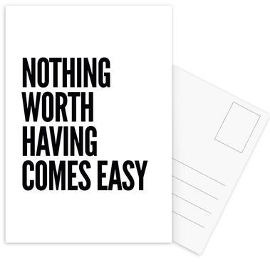 Nothing Worth -Postkartenset