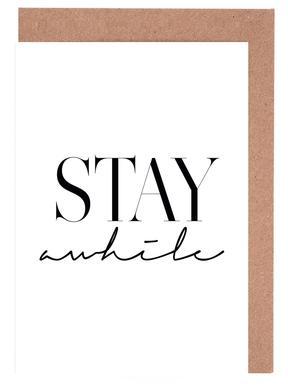 Stay Awhile 2 -Grußkarten-Set