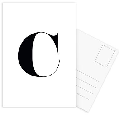 C Postcard Set