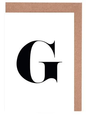 G Greeting Card Set