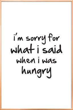 hungry -Poster im Alurahmen