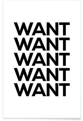Want affiche