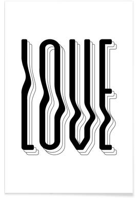 Love Wavy Plakat