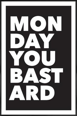 Monday - Poster im Kunststoffrahmen