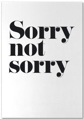 Sorry Not Sorry -Notizblock