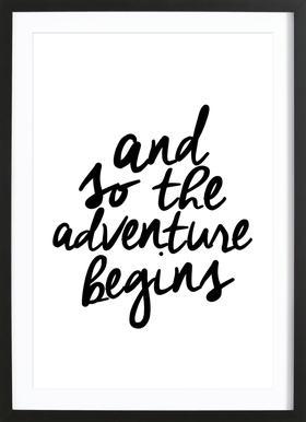 Adventure Begins Framed Print