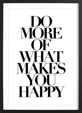 do more - Poster in Wooden Frame