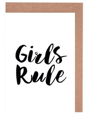 Girls Rule -Grußkarten-Set