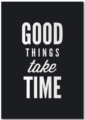 Good Things Take Time -Notizblock