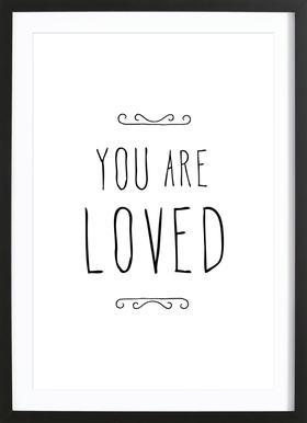 You Are Loved -Bild mit Holzrahmen