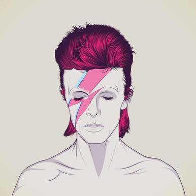 David Bowie Aluminium Print