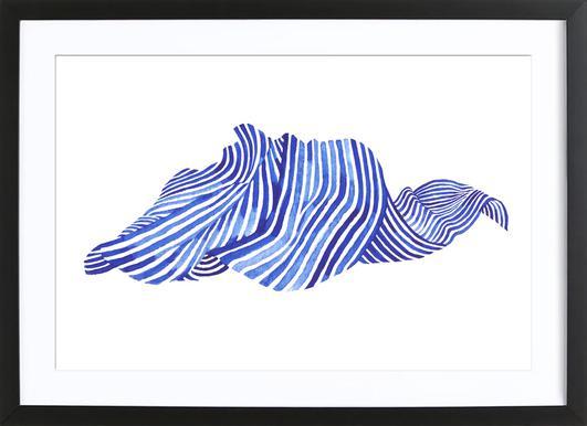 Waves -Bild mit Holzrahmen