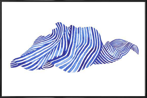 Waves -Bild mit Kunststoffrahmen