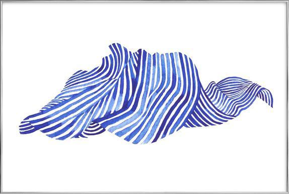 Waves -Poster im Alurahmen