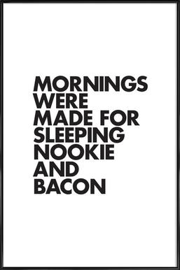 Sleeping Nookie Bacon - Affiche sous cadre standard