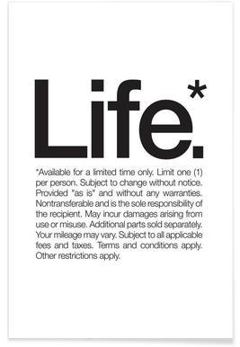 Life* (Black) - Premium poster
