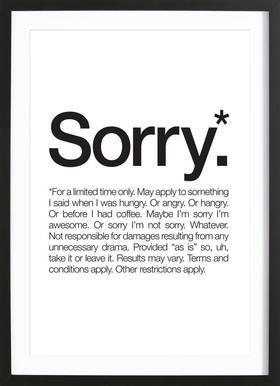 Sorry* (Black) ingelijste print